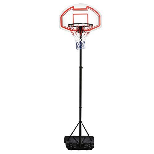 Yaheetech Basketballständer Basketballkorb mit Ständer Korbanlage höhenverstellbar von 196 cm - 251 cm