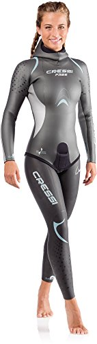 Cressi Damen Free Lady Two-Pieces Wetsuit 3.5mm Neoprenanzug, Blau, L/4