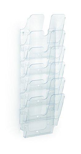 Durable 1700008401 Prospektspenderset (Flexiplus 6, A4, 247 x 745 x 100 mm) 1 Set, transparent