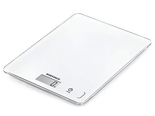 Soehnle Page Compact 300 digitale Küchen-/Digitalwaage (bis zu 5 kg Tragkraft, Küchenwaage mit leicht ablesbarer LCD-Anzeige, mit Zuwiegefunktion)