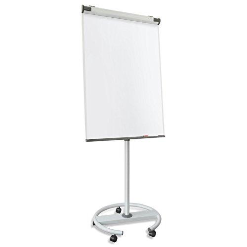 Master of Boards Design Flipchart mit Rundfuß | mobil, Rollenfuß-Gestell | ausklappbare Papierhalter | Whiteboard mit Ständer | verstellbar