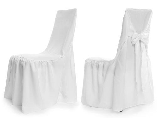 Universal Stuhlhussen - Modell Wien - Weiß