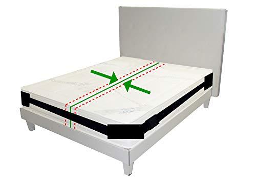 happy-life Matratzenhalter | Spanngurt- System für Matratzen | Anti- Rutsch- Gurt | Für bis zu 200 cm x 200 cm Betten | variabel einstellbar | Matratzen- Stopp | Halterung