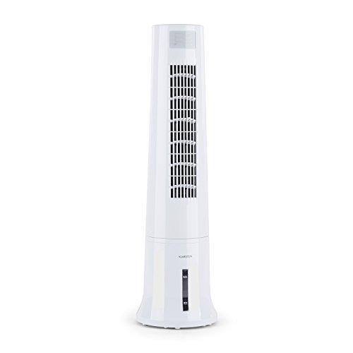 Klarstein Highrise - Klimagerät, Ventilator, Luftkühler, Luftkühler-Ventilator-Kombi, 35 W, zuschaltbarer Oszillationsfunktion, 3 Leistungsstufen, 2.5 Liter Tank, inkl. Fernbedienung, weiß