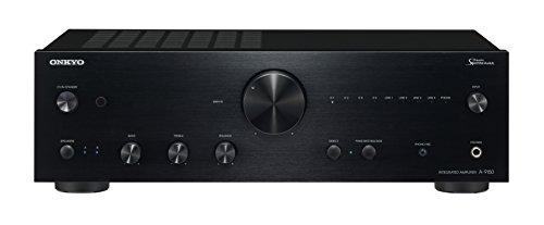 Onkyo Europe Electronics A-9150-B Erstklassiger Stereo-Vollverstärker mit 60W Pro Kanal, robustem Chasis und Aluminium-Front schwarz