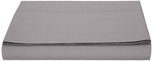 AmazonBasics Bettlaken, Mikrofaser, Dunkelgrau, 180x290x10cm