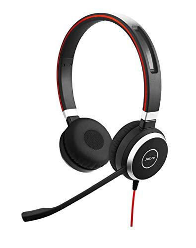 Jabra Evolve 40 MS Stereo-Kabel-Headset mit USB und 3,5 mm-Klinke für PC/Laptop/Smartphone/Tablet, Busylight, für Skype for Business