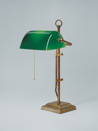 Bankerlampe Schreibtischlampe Original Berliner Messing W2-99gr B