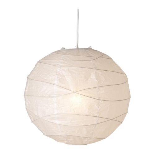 IKEA Regolit Hängeleuchtenschirm, Weiß, Papier, White, 45 x 45 x 45 cm