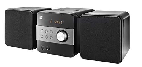Dual ML 12 Stereoanlage mit CD, USB, MP3, Radio - AUX-In - UKW - Kompaktanlage - Fernbedienung - Integrierte Lautsprecher - Stereo - Musikanlage - HiFi - Tuner - Kopfhöreranschluss schwarz