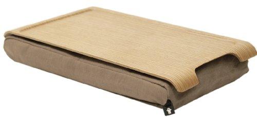 BOSIGN 'Mini'Laptray Laptop Kissen Notbooktisch Kissen mit Tisch Knietablett für Ihr Laptop, matt gummierte Oberfläche, Anti-Slip - in Natur Sandfarbend
