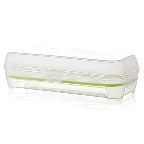 Cdet 1X Transparent Eierbox Kunststoff mit Deckel Eierhalter Einzelschicht Kühlschrank Küche Aufbewahrungsbox Multifunktionsbox Transportbox Eierbehälter für 10 Eier (Grün)