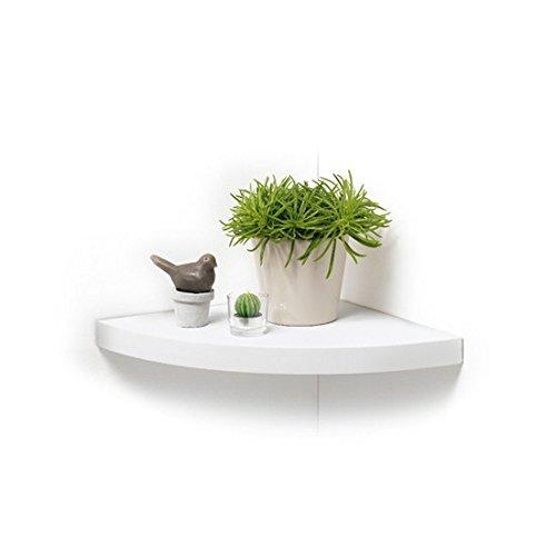 Modul'Home Eckregal, MDF/Spanplatte, weiß, 25x25x3,4cm