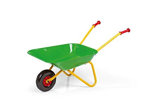 Rolly Toys 271900 rollyMetallschubkarre | Schubkarre bis 50 kg belastbar | Griffe aus Kunststoff | für Kinder ab 2,5 Jahren | Farbe grün