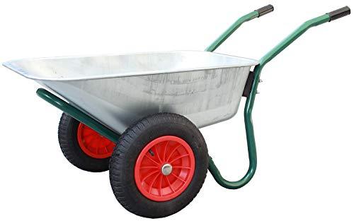 TrutzHolm 2-Rad Schubkarre BasicPlus Metallwanne feuerverzinkt Gartenschubkarre Schiebkarre Gartenkarre 100l 160kg