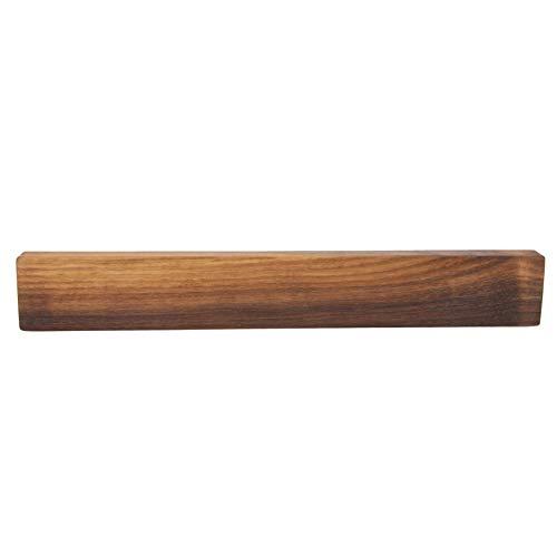 Messerhalter magnetisch | Gerade Oder schräg | 23cm bis 36,5cm | Buche, Ahorn, Eiche, Kirsche Oder Nussbaum Massivholz | Magnethalter aus Holz Ohne Messer (Nussbaum, Gerade, 36cm)