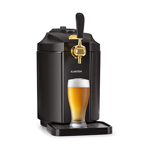 Klarstein Skal • Bierzapfanlage • Bierkühler • 5 Liter Fässer • Edelstahl • nur 38 dB • Temperatur: 2-12 °C • LCD-Display • inkl. Heineken-Fass-Adapter und CO2-Kartusche • schwarz