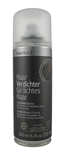Hairfor2 Haarverdichtungsspray, schwarzbraun, 219 ml