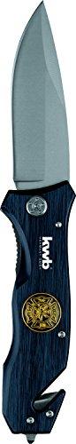 kwb Rettungsmesser mit Gurtschneider und Glasbrecher, extra scharf, Notfall-Messer mit 90 mm Klinge