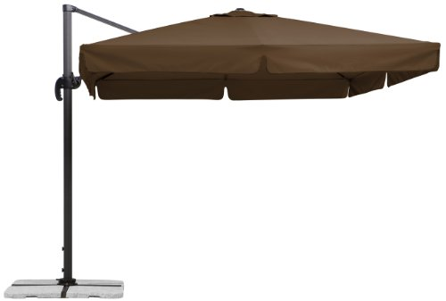 Schneider Sonnenschirm Rhodos, terracotta, 300x300 cm quadratisch, Gestell Aluminium/Stahl, Bespannung Polyester, 23.3 kg