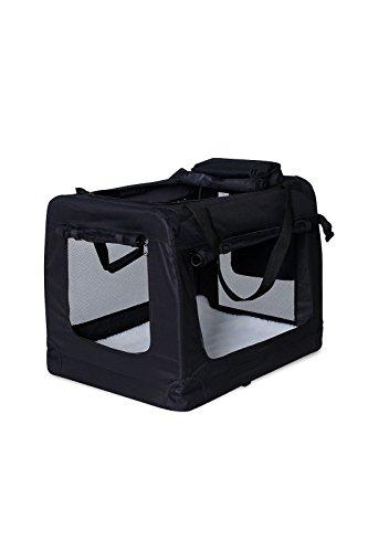 dibea TB10020 Hundetransportbox Hundetasche Faltbare Autobox Kleintiertasche (Größe und Farbe wählbar), schwarz