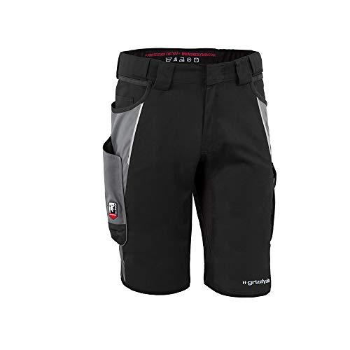 Grizzlyskin Arbeitsshorts Iron - Unisex Workwear Kurze Arbeitshose für Männer und Damen; Farbe: Schwarz/Grau; Größe: N50