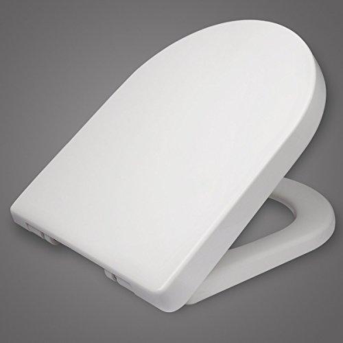 WOLTU WS2543 Klodeckel Wc Sitz Deckel Absenkautomatik, Kunststoff, Fast Fix/Schnellbefestigung, Softclose Scharnier, Antibakteriell