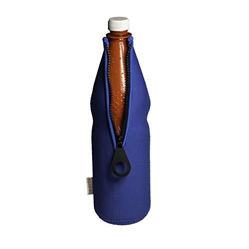 DRESS-YOUR-DRINK Flaschenkühler 0,7-1,0L für Glas- & PET Flaschen, Neopren, Getränkekühler, (blau, 1)