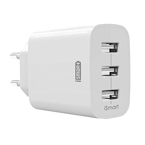 RAVPower RP-UC12 USB Ladegerät 3-Port 30W 6A (insgesamt) für iPhone 8/8 Plus iPhone X  iPad Galaxy S8, S8 Plus , Note, Nexus, HTC, Motorola, LG, Xiaomi Smartphone Tablets Weiß