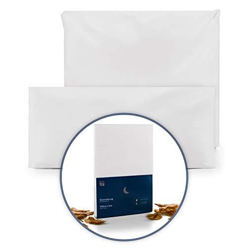 Blumtal Kopfkissen Milbenbezug für Allergiker - Kissen-Bezug Anti-Milben, waschbar, 80x80 cm, 2er Set