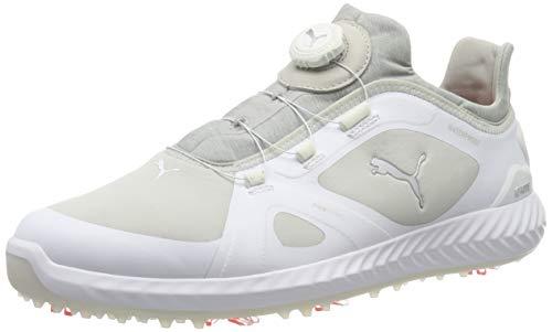Puma Herren Ignite PWRADAPT DISC Golfschuhe, White-Gray Violet, 43 EU
