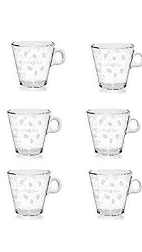 6 dickwandige Teegläser/Glühweingläser/Kaffeegläser Gläser mit Henkel 260ml