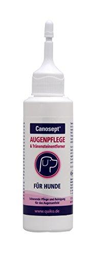 Canosept Augenpflege für Hunde / Pflege- und Reinigungsmittel für den Bereich ums Auge & Tränensteinentferner / 1 x 120 ml
