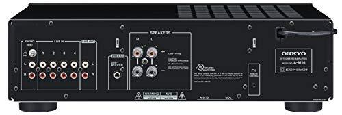 Onkyo A-9110 Integrierter Stereoverstärker (2X 50W Hochstromverstärkung, Wide Range Amplification Technology, gut lesbares Display) Schwarz