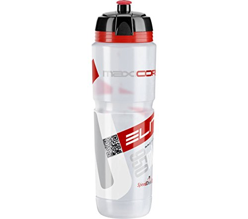 Elite Trinkflasche Maxi Corsa, Transparent-Rot, 950 ml, FA003514221