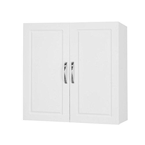 SoBuy FRG231-W Hängeschrank mit Zwei Türen Wandschrank Badschrank Küchenschrank Medizinschrank Weiß BHT ca: 60x60x30cm