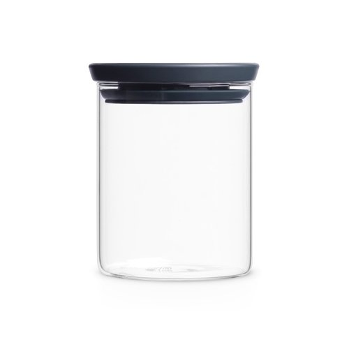Brabantia 298288 Glasbehälter 0,6 L, dunkel grau