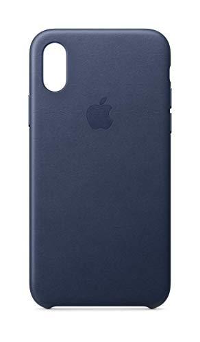Apple Leder Case (IphoneXs) - Mitternachtsblau