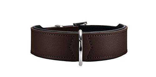 Hunter Hundehalsband Basic, 41-49 cm, braun/schwarz
