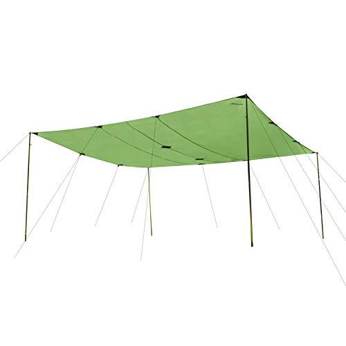 CampAir Tarp 4x4 Sonnenschutz Rechteckig, Robustes Gewebe 400 x 400 cm, UV Schutz, Grün