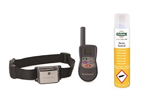 PetSafe Spray Erziehungshalsband mit Fernbedienung, 275m Radius, umweltfreundliches Zitronella Spray, Hunde aller Größen