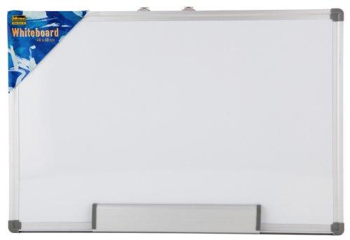 Idena 568019 - Whiteboard Alu-Rahmen, ca. 40 x 60 cm, mit Stiftablage