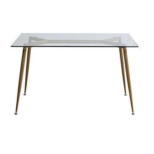 Essgruppe Glastisch und Esszimmerstühle 42 x 57.5 x 79 cm Esszimmertisch 130 x 80 x 75 cm (Nur Tisch)