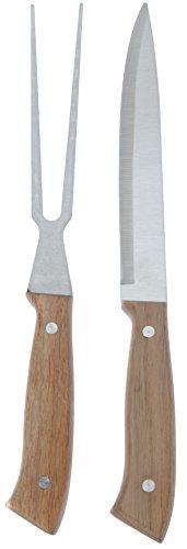 hibuy Hochwertiges Steakhaus Tranchierbesteck Set - Bestehend aus 1 Fleischmesser und 1 Fleischgabel