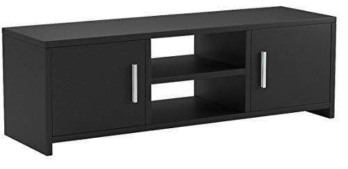 HOMFA Fernsehtisch TV Lowboard Tisch TV Möbel TV schrank TV Board Fernsehschrank Holz 110x35x40cm (Schwarz)