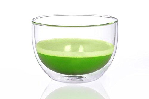 Matcha Schale / Matcha Teeschale 400ml aus doppelwandigem Thermo-Glas, Original Aricola