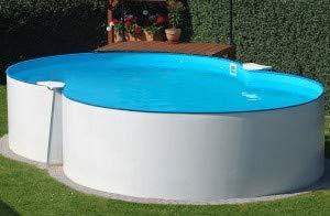 Summer Fun Stahlwandbecken Montevideo Basic achtform 3,00m x 4,70m x 1,20m Einzelbecken Pool Achtformpool ohne Zubehör / 300 x 470 x 120 cm Stahlwandpool