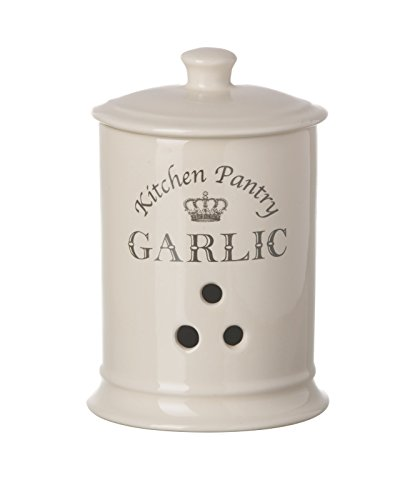 Majestic Cream Knoblauch Jar, Küche Vorratstopf Kanister