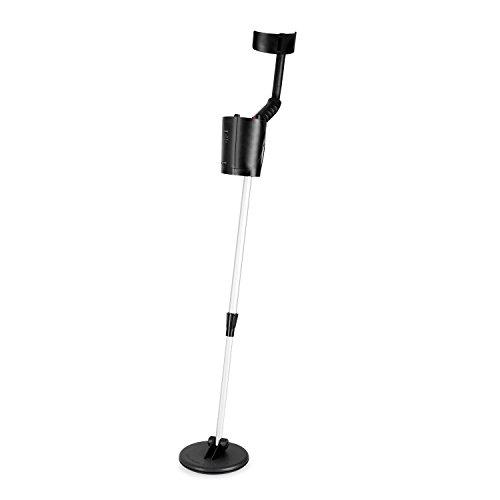 DURAMAXX MD-061 Metalldetektor Metallsuchgerät (bis zu 1,5 m Suchtiefe, 16,5 cm Suchspule, wasserdichte, akustisches und visuelles Fundsignal) schwarz