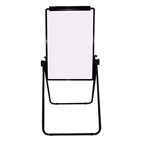 Kurtzy Magnetische Whiteboard Flipchart Staffelei 86 x 56 cm kommt mit Aluminium-Rahmen, der über Rutschhemmende Klemmen auf der Unterseite verfügt - Magnettafel zum Beschreiben Leicht löschbar